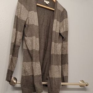 Gray silver old navy cardigan m